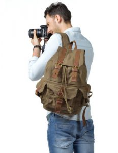 Kattee Canvas Camera Backpack Rucksack Bag