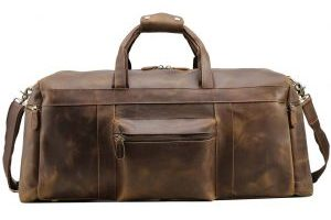 Polare Duffle Genuine Leather Weekender Travel Duffel luggage Carry On Bag