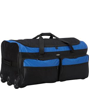 Travelers Club Luggage Space-Saving Triple Wheeled Rolling