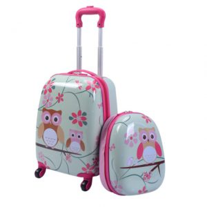 Goplus 2Pc Kids Upright Hard Side Carry On Luggage Set