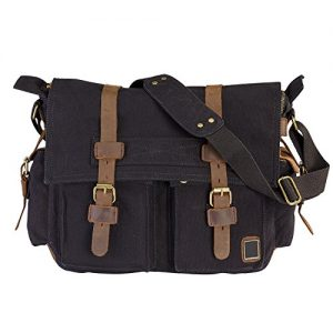 LUXUR Military Satchel Messenger Bag