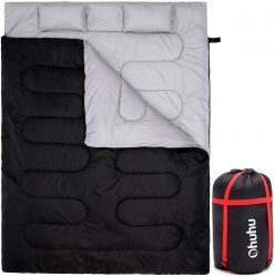 Ohuhu Double Sleeping Bag 2 Pillows & Carrying Bag